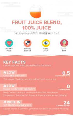 Fruit juice blend, 100% juice