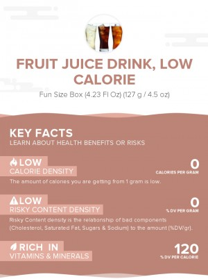 Fruit juice drink, low calorie