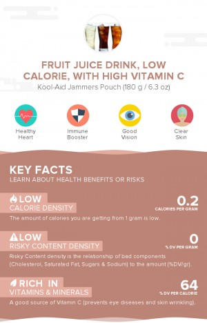 Fruit juice drink, low calorie, with high vitamin C