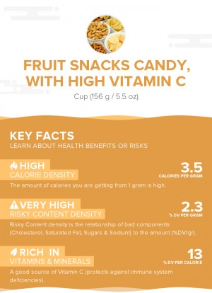Fruit snacks candy, with high vitamin C