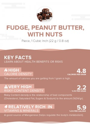 Fudge, peanut butter, with nuts
