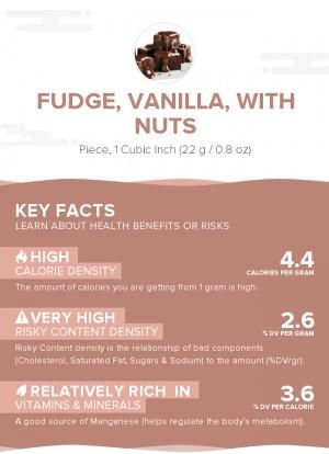 Fudge, vanilla, with nuts