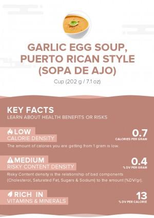 Garlic egg soup, Puerto Rican style (Sopa de ajo)