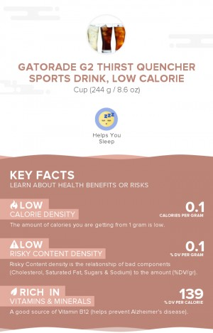 Gatorade G2 Thirst Quencher sports drink, low calorie