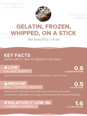 Gelatin, frozen, whipped, on a stick