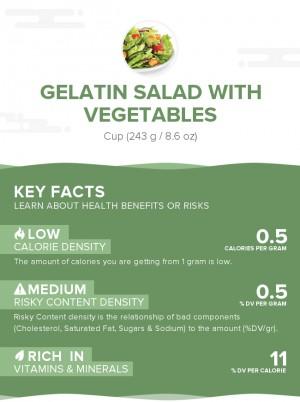 Gelatin salad with vegetables