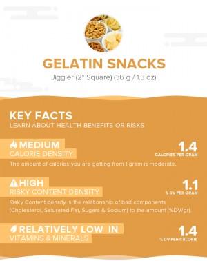 Gelatin snacks