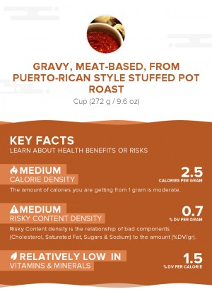Gravy, meat-based, from Puerto-Rican style stuffed pot roast
