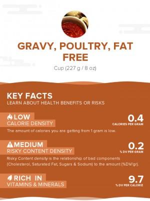 Gravy, poultry, fat free
