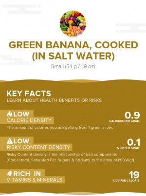 Green banana, cooked (in salt water)