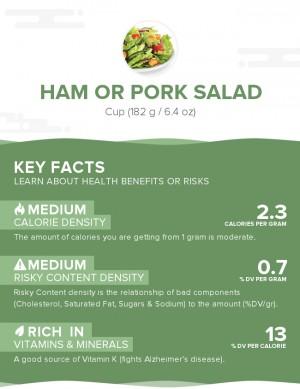 Ham or pork salad