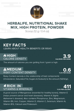 Herbalife, nutritional shake mix, high protein, powder