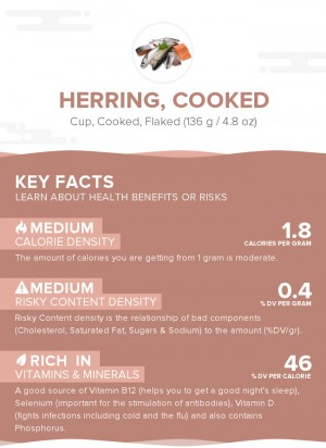 Herring, cooked