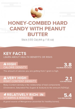 Honey-combed hard candy with peanut butter