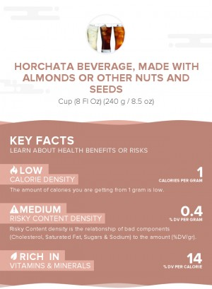 Horchata beverage, made with almonds or other nuts and seeds