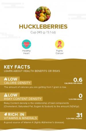Huckleberries, raw