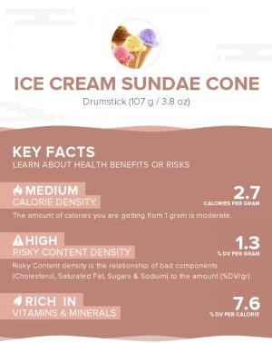 Ice cream sundae cone