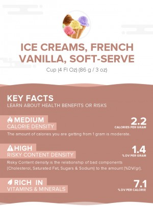 Ice creams, french vanilla, soft-serve