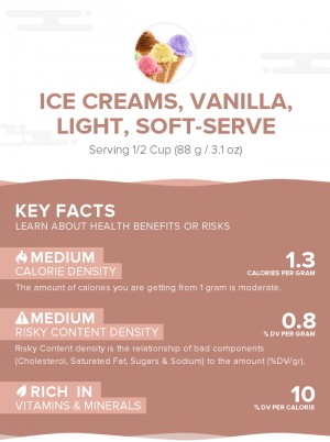 Ice creams, vanilla, light, soft-serve