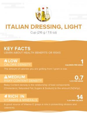 Italian dressing, light