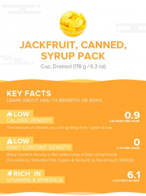 Jackfruit, canned, syrup pack