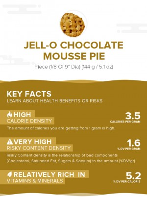 Jell-O chocolate mousse pie