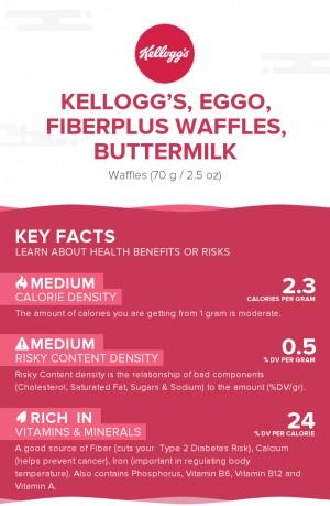 KELLOGG'S, EGGO, FIBERPLUS Waffles, Buttermilk