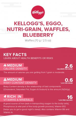 KELLOGG'S, EGGO, NUTRI-GRAIN, Waffles, Blueberry