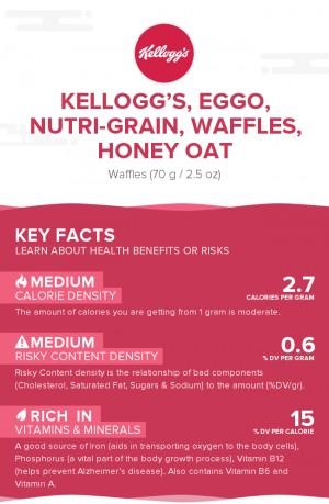 KELLOGG'S, EGGO, NUTRI-GRAIN, Waffles, Honey Oat