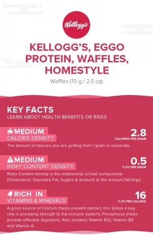 KELLOGG'S, EGGO Protein, Waffles, Homestyle