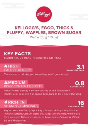 KELLOGG'S, EGGO, Thick & Fluffy, Waffles, Brown Sugar