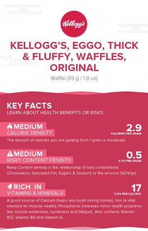 KELLOGG'S, EGGO, Thick & Fluffy, Waffles, Original