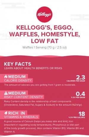 KELLOGG'S, EGGO, Waffles, Homestyle, Low Fat