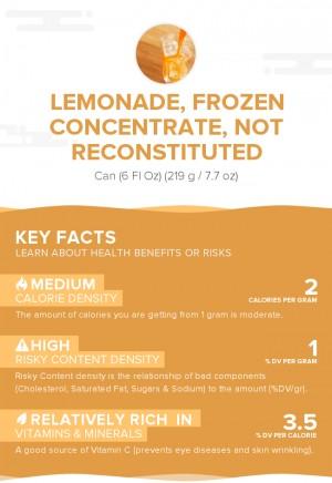 Lemonade, frozen concentrate, not reconstituted