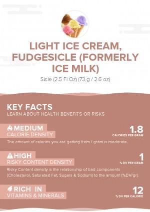 Light ice cream, fudgesicle (formerly ice milk)
