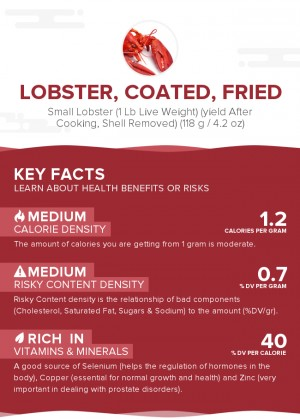 Lobster, coated, fried