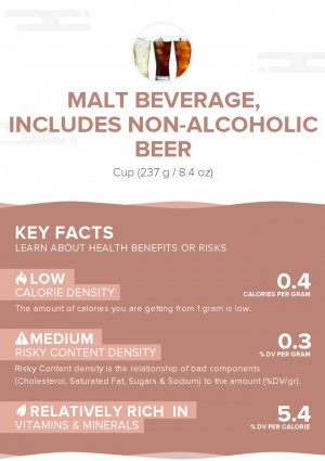 Malt beverage, includes non-alcoholic beer