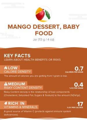 Mango dessert, baby food