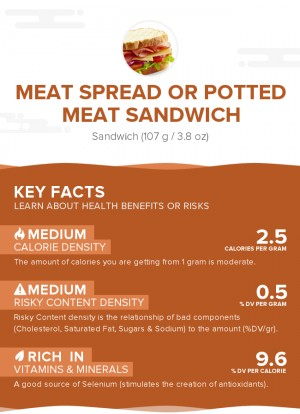 Meat spread or potted meat sandwich