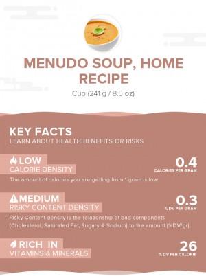 Menudo soup, home recipe