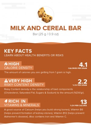 Milk and cereal bar
