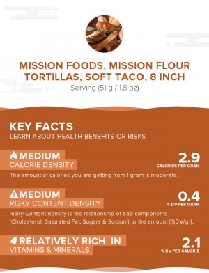MISSION FOODS, MISSION Flour Tortillas, Soft Taco, 8 inch