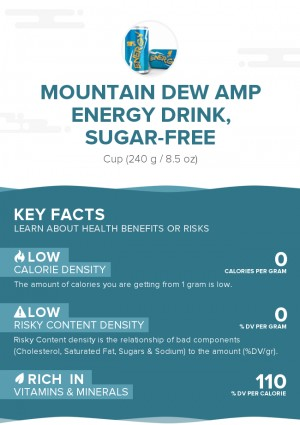 Mountain Dew AMP Energy Drink, sugar-free
