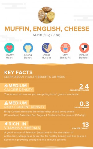 Muffin, English, cheese