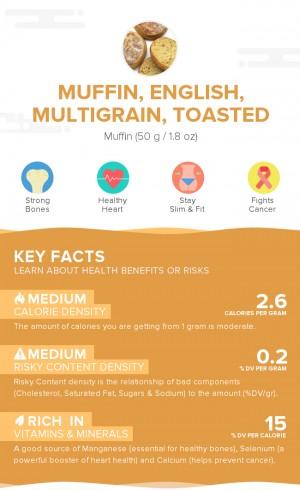 Muffin, English, multigrain, toasted