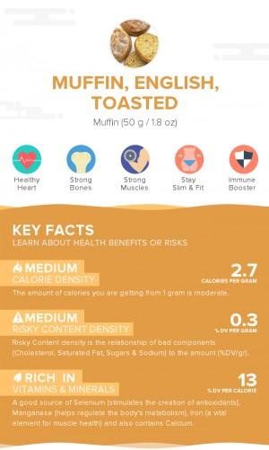 Muffin, English, toasted