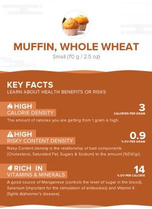 Muffin, whole wheat