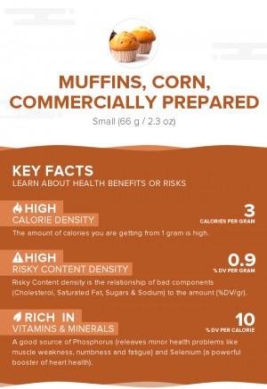Muffins, corn, commercially prepared