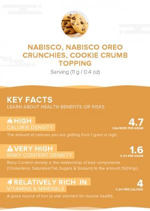 NABISCO, NABISCO OREO CRUNCHIES, Cookie Crumb Topping