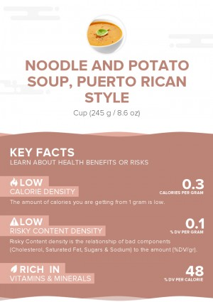 Noodle and potato soup, Puerto Rican style